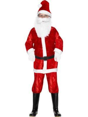 Mini Mr Santa Childrens Christmas Fancy Dress Costume