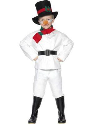 Snowman Children's Christmas Fancy Dress Costume
