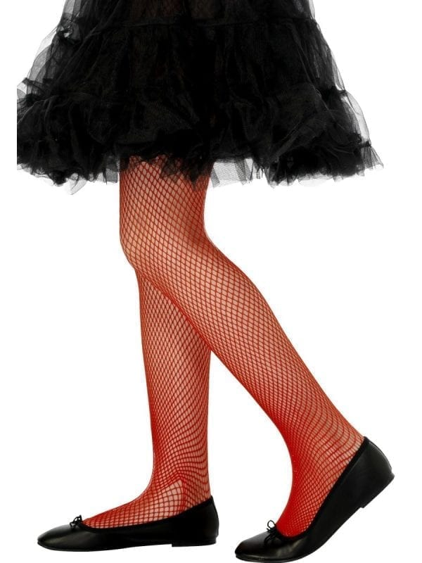 Red Fishnet Tights 2-5 Years