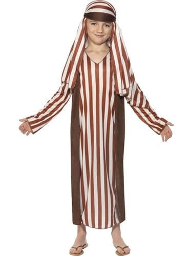 Shepherd (Brown Striped)Childrens Christmas Fancy Dress Costume