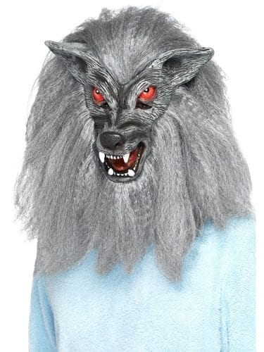 Werewolf Full Overhead Grey Mask