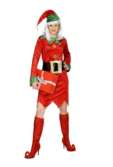 Deluxe Elf Ladies Christmas Fancy Dress Costume (DISC)