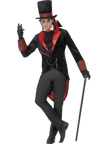 Dracula Mens Halloween Fancy Dress Costume