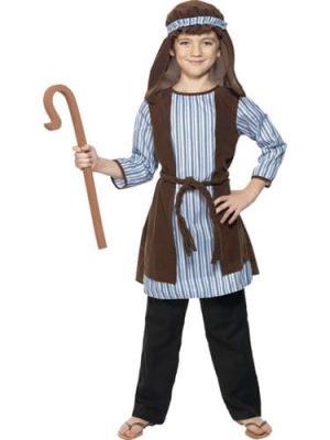Shepherd (Blue Stripe) Childrens Christmas Fancy Dress Costume
