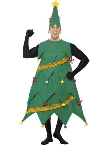 Deluxe Christmas Tree Christmas Fancy Dress Costume (new)
