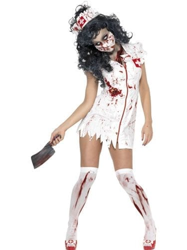 Zombie Nurse Halloween Ladies Fancy Dress Costume