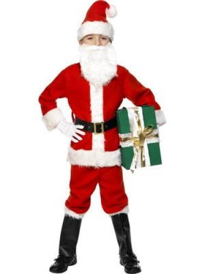 Santa Deluxe Childrens Christmas Fancy Dress Costume