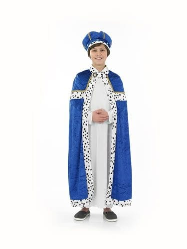 Blue Wise Man Children's Christmas Fancy Dress Costume
