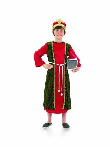 Red Wise Man Children's Christmas Fancy Dress Costume