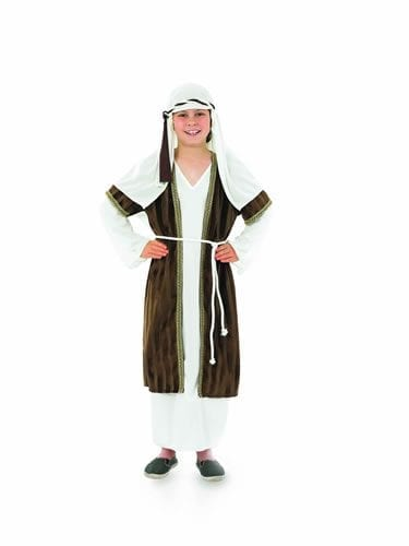 Shepherd (Brown Stripe) Children's Christmas Fancy Dress Costume