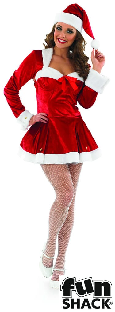 Miss Clause Ladies Christmas Fancy Dress Costume