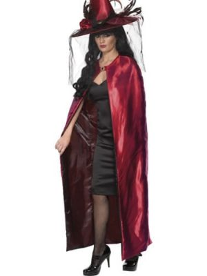 Deluxe Reversible Red/Black Cape
