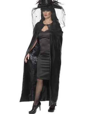 Deluxe Witches Black Cape