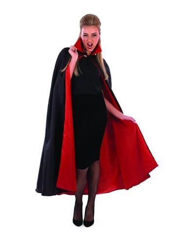 Black/Red Vampire Cape Halloween Fancy Dress Costume