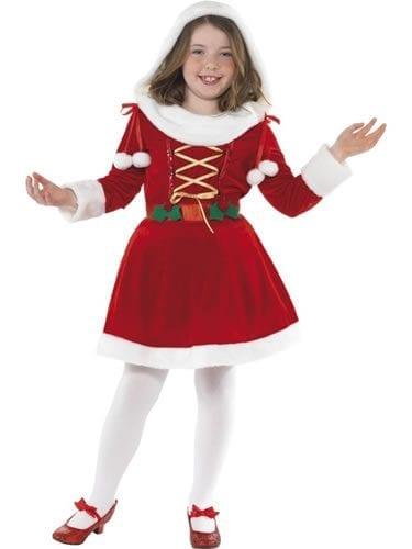 Little Miss Santa Children's Christmas Fancy Dress Costume
