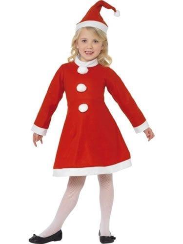 Value Santa Girl Children's Christmas Fancy Dress Costume