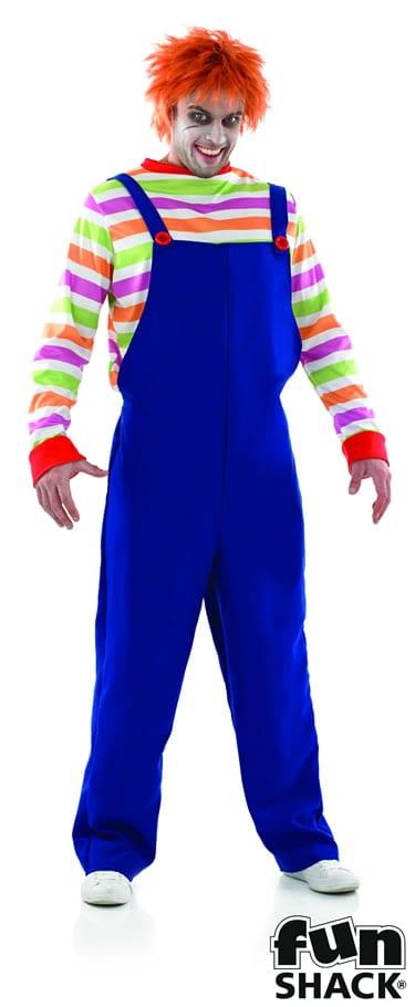 Evil Doll (Chucky) Men's Halloween Fancy Dress Costume