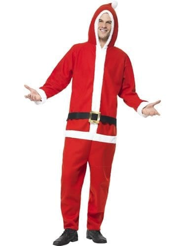 Santa Onesie Mens Christmas Fancy Dress Costume