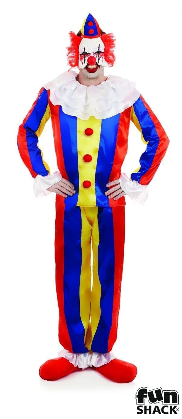 Scary Circus Clown Men's Halloween Fancy Dress Costume