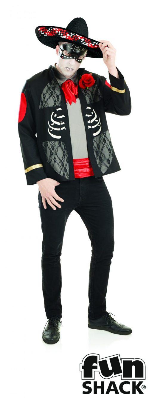 Day of the Dead Senor Men's Halloween Fancy Dress Costume