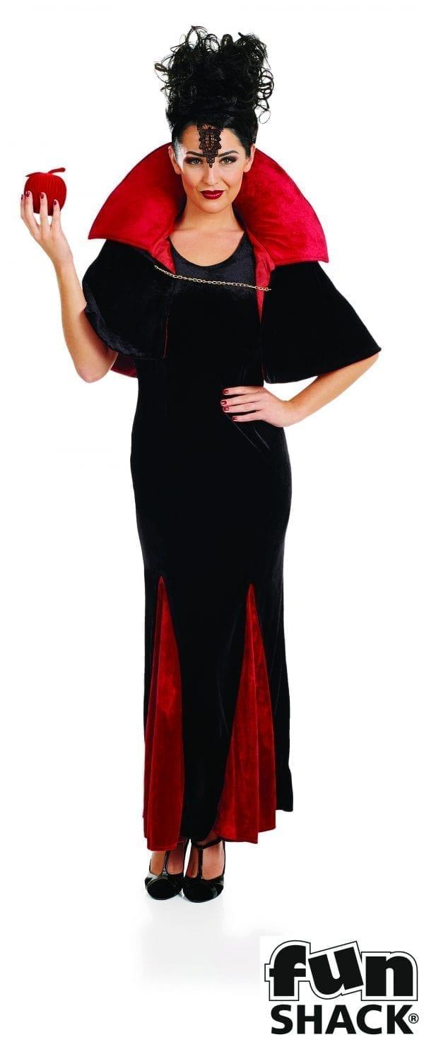 Queen of Evil Ladies Halloween Fancy Dress Costume