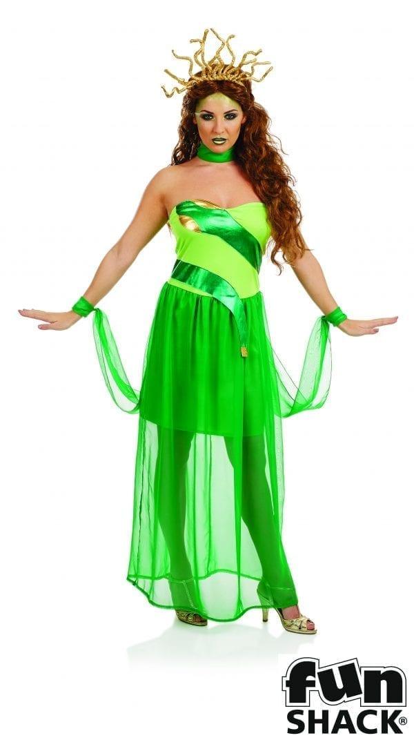 Medusa Ladies Halloween Fancy Dress Costume