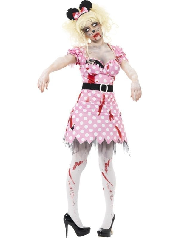 Zombie Alley Zombie Rodent Ladies Halloween Fancy Dress Costume