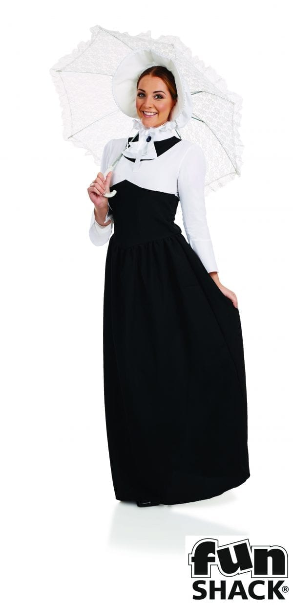Victorian Woman (Poppins) Ladies Fancy Dress Costume