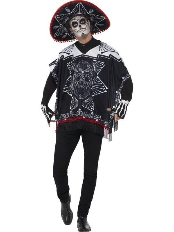 Day of the Dead Bandit Men's Halloween Fancy Dress Costume