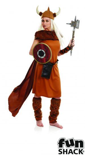 Viking Lady Ladies Fancy Dress Costume