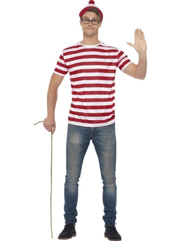 Where's Wally Kit Men's Fancy Dress Costume