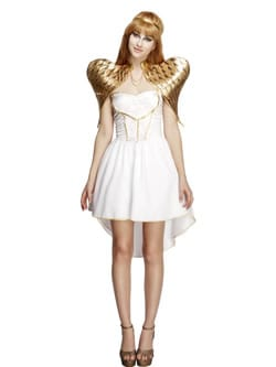 Fever Collection Glamorous Angel Christmas Ladies Fancy Dress Costume