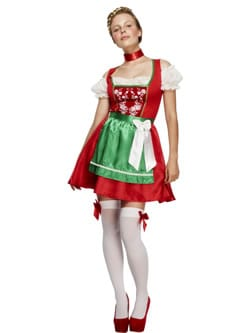 Fever Collection Christmas Dirndl Ladies Fancy Dress Costume