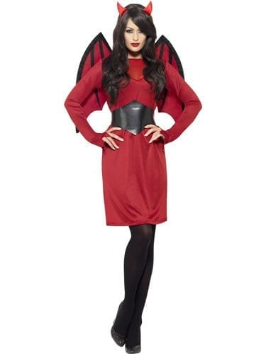 Devil Economy Ladies Halloween Fancy Dress Costume