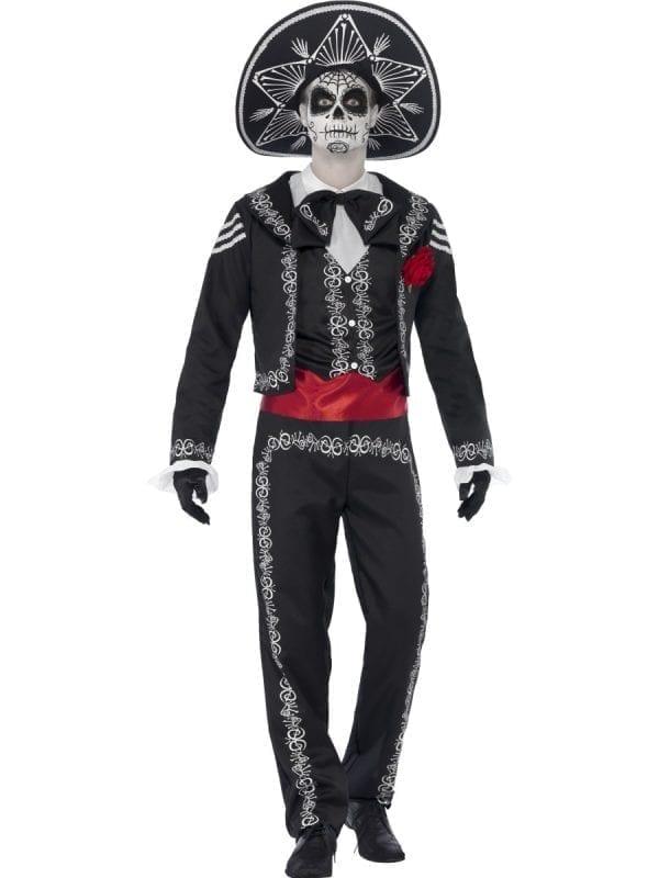 Day of the Dead Senor Bones Halloween Fancy Dress Costume