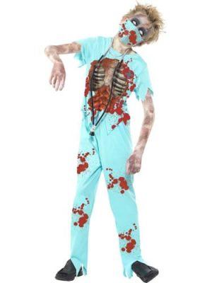 Zombie Surgeon Children's Halloween Fancy Dress Costume