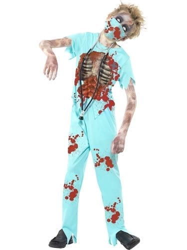 Zombie Surgeon Children's Halloween Fancy Dress Costume
