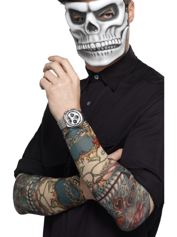 Day of the Dead Tattoo Sleeves Pair