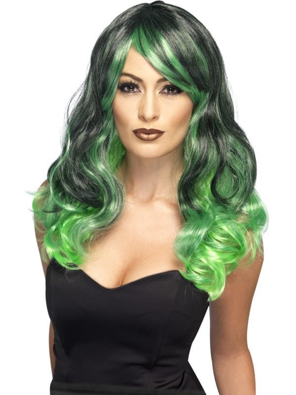 Bewitching Green & Black Ombre Wig