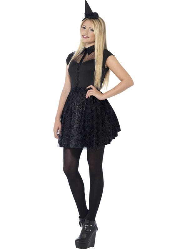 Glitter Witch Young Adult Halloween Fancy Dress Costume