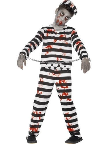Zombie Convict Children's Halloween Fancy Dress Costume