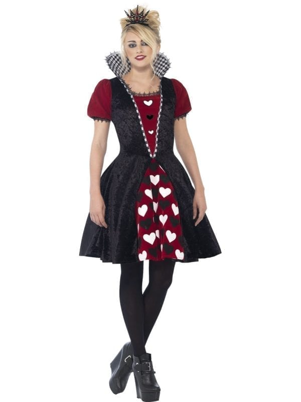 Dark Red Queen Young Adult Halloween Fancy Dress Costume