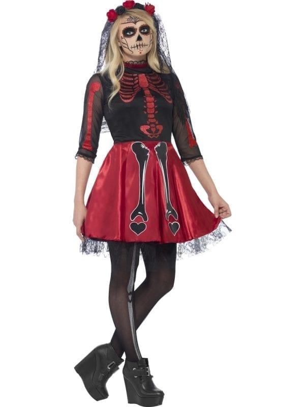Day of the Dead Diva Young Adult Halloween Fancy Dress Costume