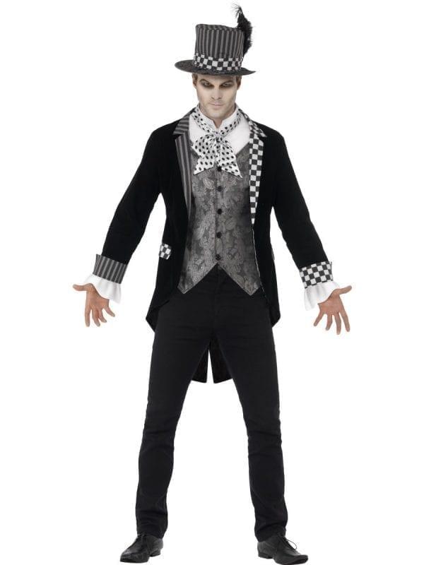 Deluxe Dark Hatter Men's Halloween Fancy Dress Costume
