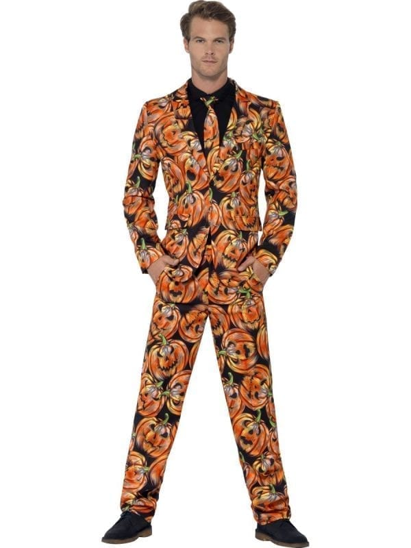 Pumpkin Standout Suit Men's Fancy Dress Costume