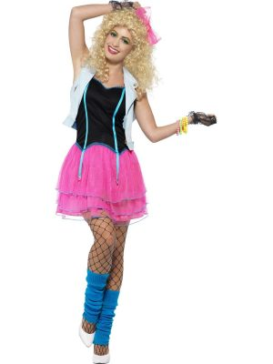80's Wild Girl Ladies Fancy Dress Costume