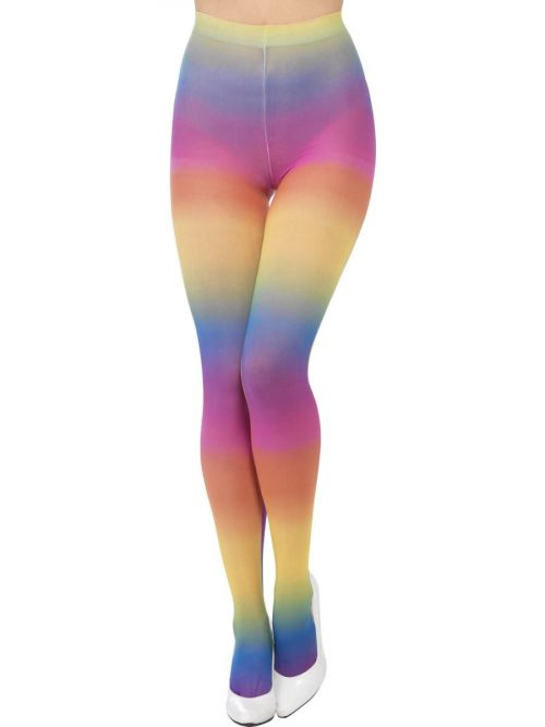Rainbow Coloured Opaque Tights