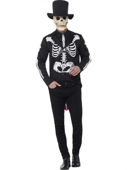 Day of the Dead Señor Skeleton Men's Halloween Fancy Costume