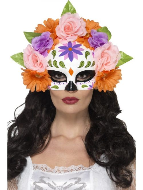 Day of the Dead Floral Eyemask Multi-Coloured