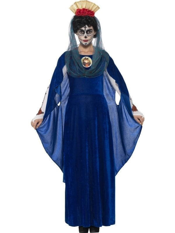 Day of the Dead Sacred Mary Ladies Halloween Fancy Dress Costume